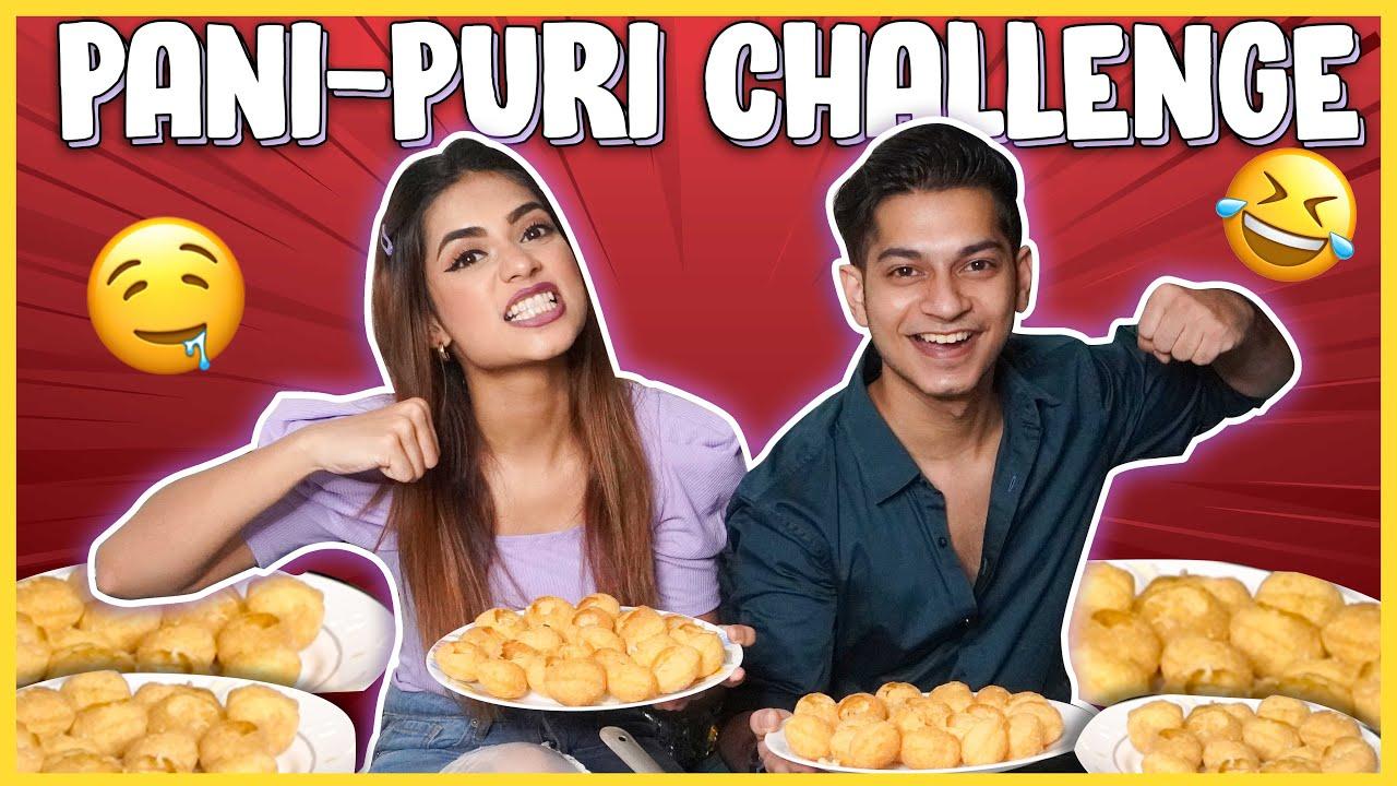 PANI PURI / GOLGAPPA CHALLENGE || FOOD CHALLENGE || NAGMA MIRAJKAR