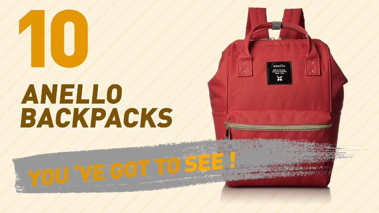 e29657105e27 Top Backpacks By Anello    New   Popular 2017 - YouTube