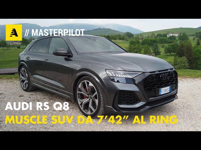 """AUDI RS Q8   Muscle SUV da 600 CV e 7'42"""" al Ring..."""