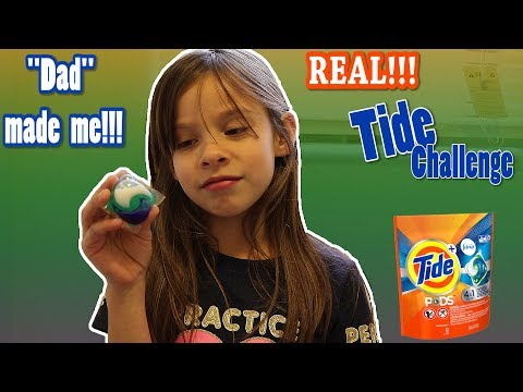 TIDE POD Challenge! DAD Made Me!