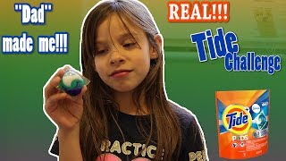 TIDE POD Challenge! DAD MADE ME! Must WATCH!!!