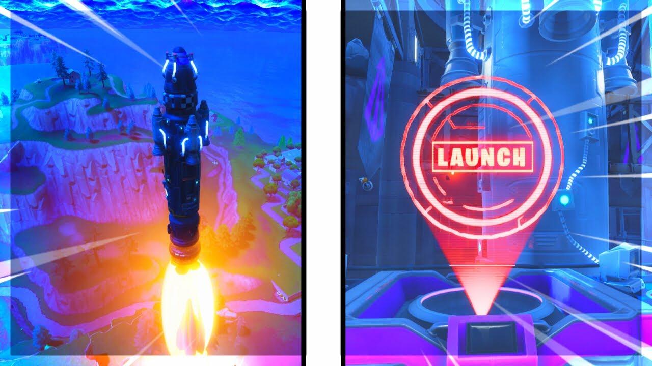 Fortnite Full Rocket Launch Gameplay - YouTube