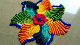 Very easy small and quick rangoli designs by easy rangoli classes