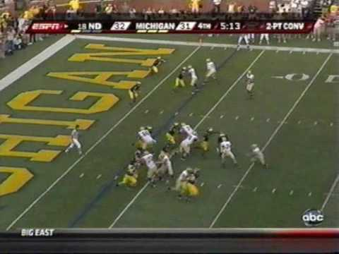 2009: Michigan-38 Notre Dame-34 (PART 2)