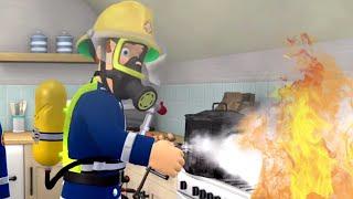 Cucinare con troppo fuoco ⭐️ Sam il Pompiere | Pompiere di salvataggio | Cartoni