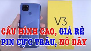 Mở hộp Realme V3 5G CỰC RẺ, thay thế Realme Q, đối đầu Vsmart?