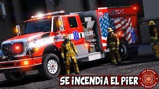 GTA 5 BOMBEROS | SE INCENDIO EL PIER Y MI CAMION | TheAxelGamer