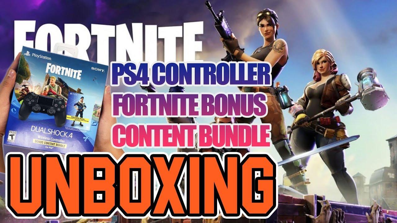 ps4 controller fortnite bonus content bundle unboxing - dualshock 4 fortnite bonus bundle wireless controller