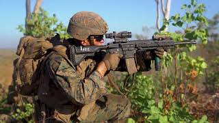Australian Defence Force and US Marines Combine Fire Attack