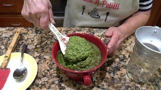 Italian Grandma Makes Fresh Basil Pesto