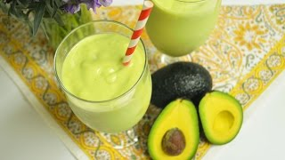 Avocado Smoothie : Traditional Vs. Vegan : Avocado Recipes : Healthy Recipes