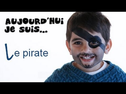 Maquillage Pirate , Tutoriel maquillage enfant facile