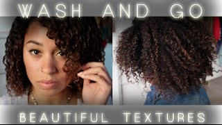 wash and go using beautiful textures curl control defining pudding and curl definer styling custard