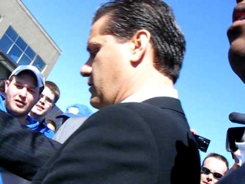 John Calipari leaving UK's Joe Craft Center after introductory press conference on April 1, 2009
