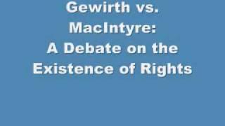 Gewirth MacIntyre