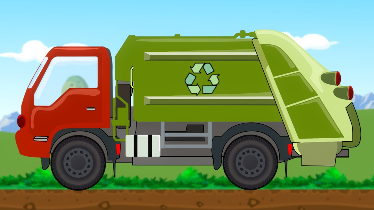 garbage truck uses of garbage truck for kids youtube. Black Bedroom Furniture Sets. Home Design Ideas