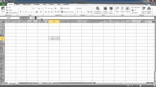 Microsoft Excel lesson 1 - basic numerical operations, cell referencing