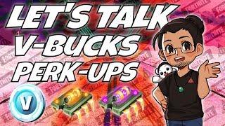 Fortnite stw: Vbucks & perk-up = o que está acontecendo?