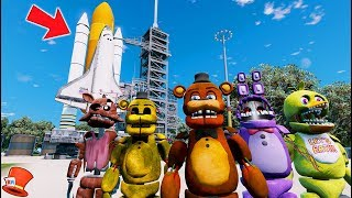 WITHERED ANIMATRONICS EXPLORE NEW PLANETS! (GTA 5 Mods For Kids FNAF RedHatter)