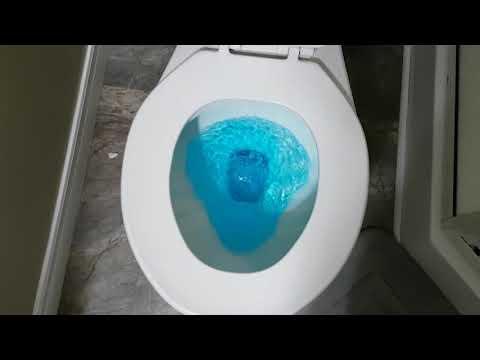 Blue water flush