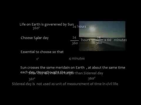 Celestial Navigation_ Time_ Sidereal & Solar Day_ Part1