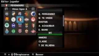 PES 2013 OPTION FILE PS2/SAVEDATA PSP TEMPORADA 2013-2014 FINAL VERSION BY KRATOS82 ALL REGIONS