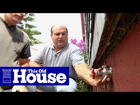How To Install A Frost Proof Faucet This Old House Youtube