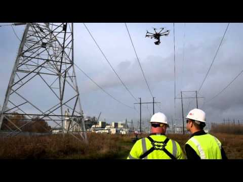 Transmission line drone inspections