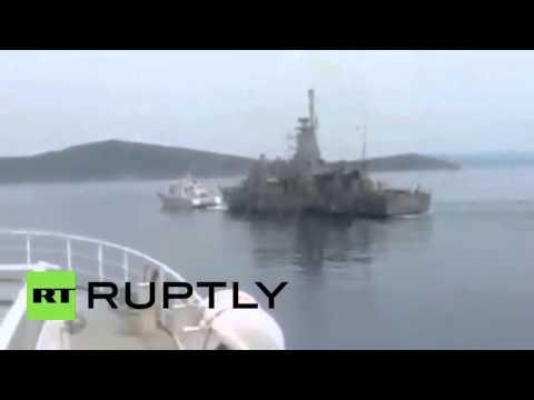 Greece: Greek navy chases off Turkish Coast Guard harassing Greek fisherman