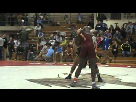 197lbs Semi Richard Perry Bloomsburg) vs Maxwell Huntley (Michigan)