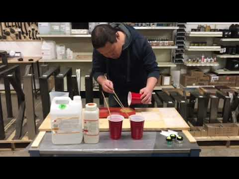 Making color sample of epoxy resin
