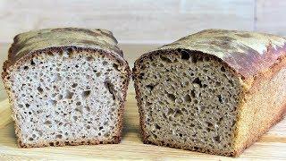 Brot backen-Das einfachste Sauerteigbrot Rezept ohne Hefe-ohne kneten
