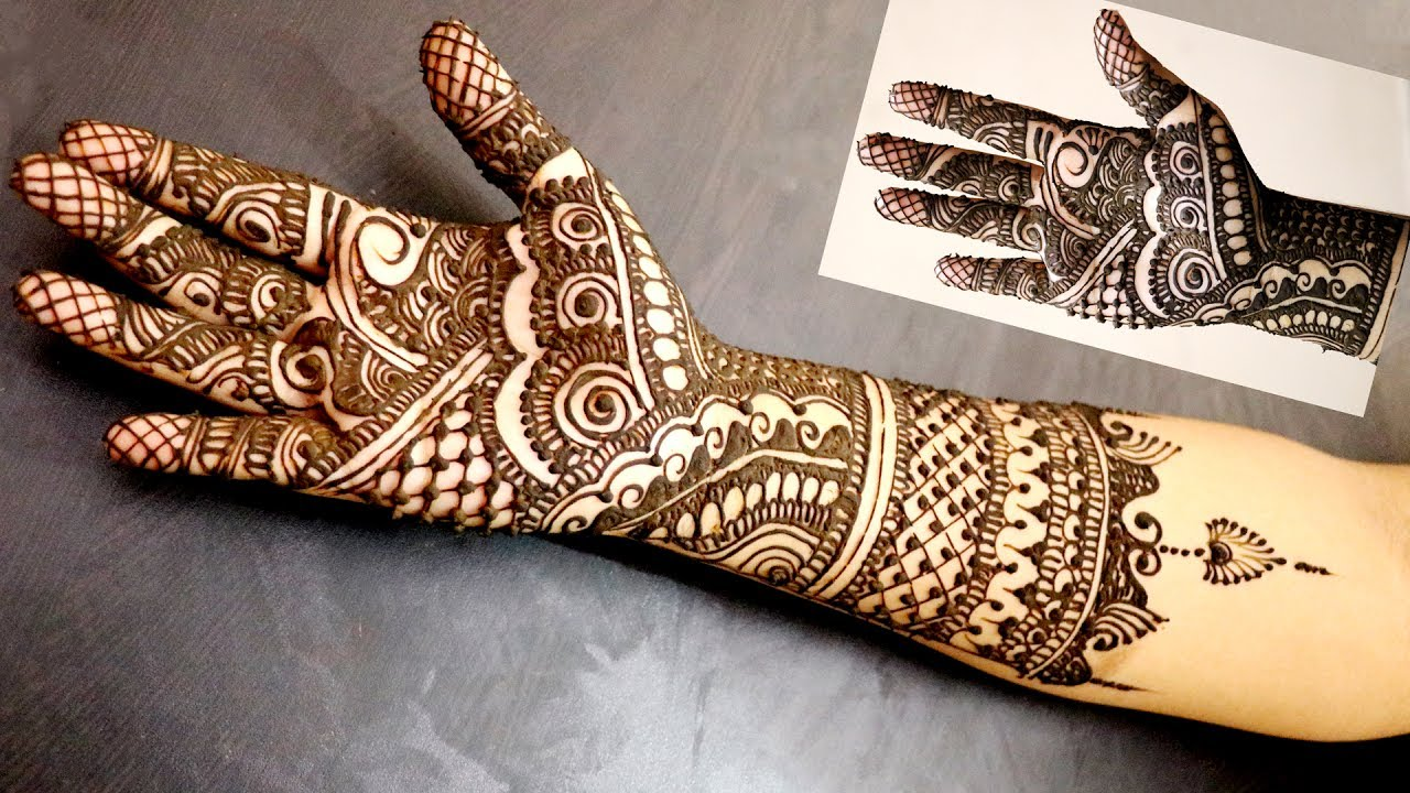 Mehndi Traditional Designs : Indo arabic mehndi design new traditional