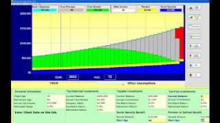 Retirement Planning Software Video Tutorial - The Basics