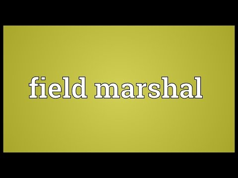 Field marshal Meaning