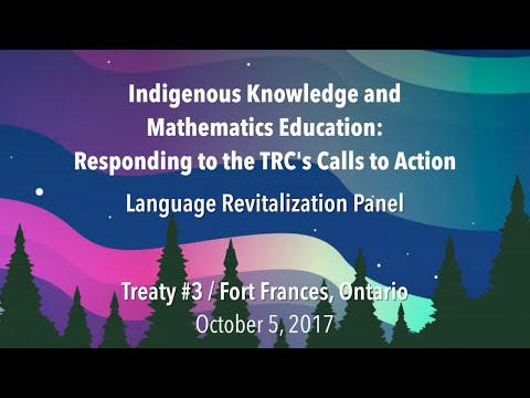 Anishinaabe Language Panel: Indigenous Knowledge and Math Education Conference
