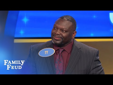 Steve meets TY! | Family Feud