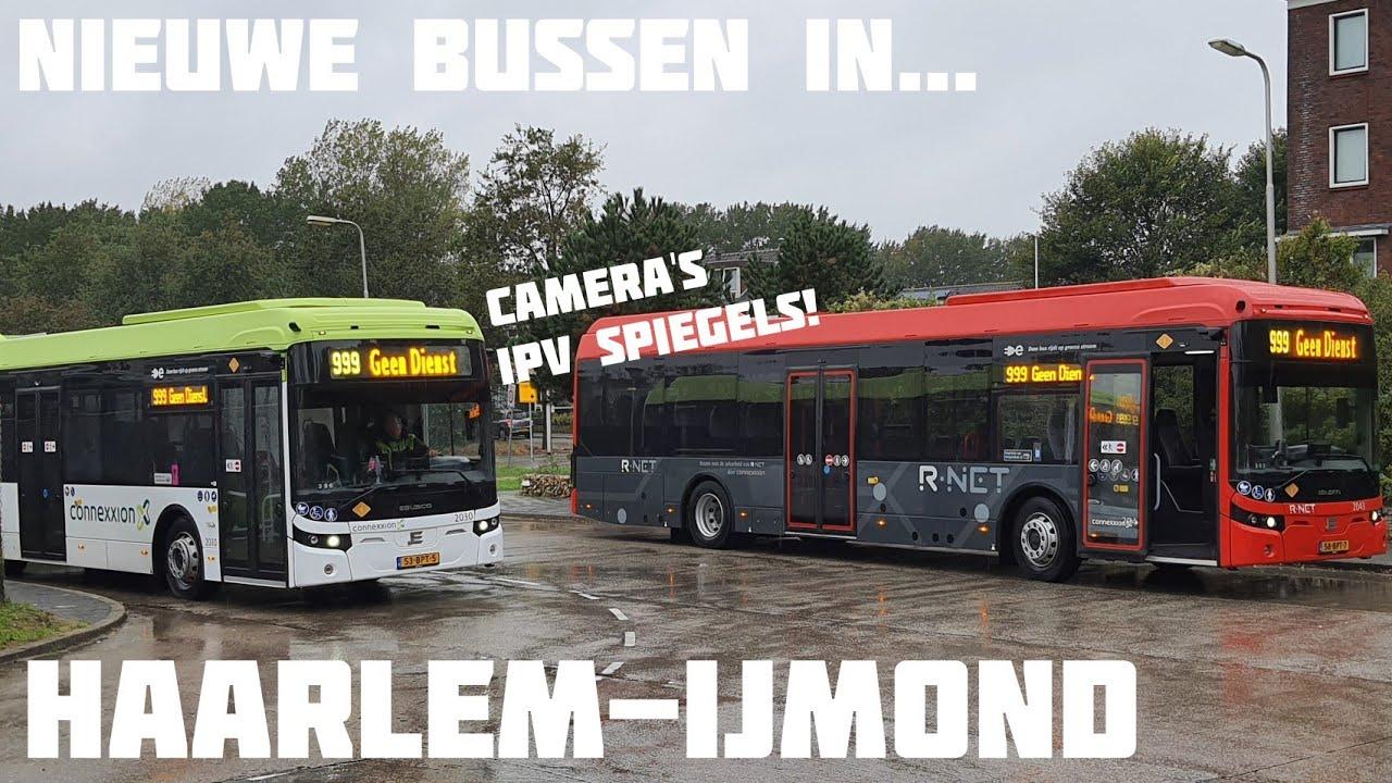Nieuwe Elektrische Bussen (zonder spiegels!) in Haarlem-IJmond! | #busleven