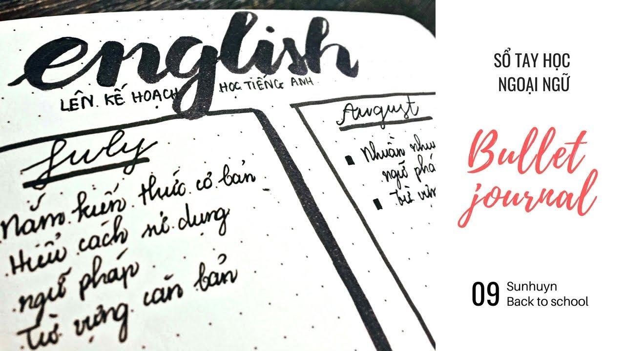 SỔ TAY GIÚP BẠN HỌC TỐT TIẾNG ANH ♡ Bullet journal ♡ Sunhuyn