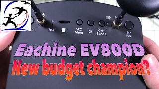 Eachine EV800D Diversity Goggles with DVR.  The new champion of budget goggles?