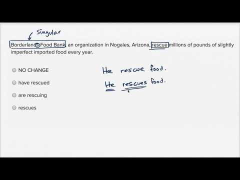 Writing: Subject-verb agreement — Harder example | Writing & Language | SAT | Khan Academy
