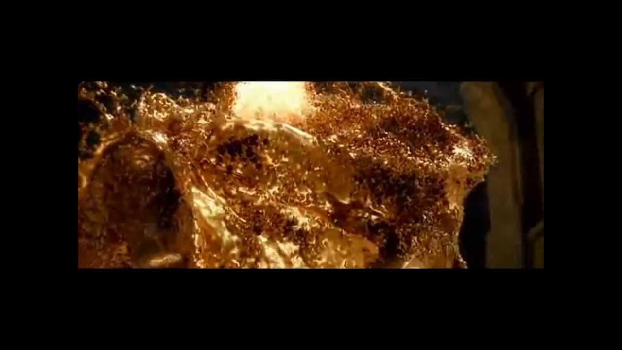 the hobbit ii smaug gold scene youtube