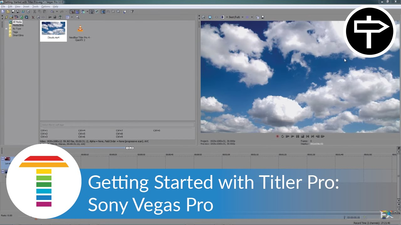 Getting started with titler pro in sony vegas pro youtube.