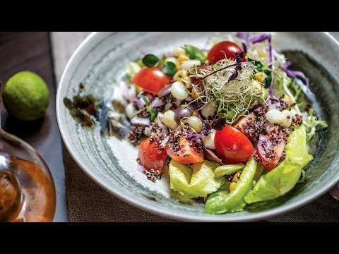 Solterito de quinua, peruvian quinua salad recipe.