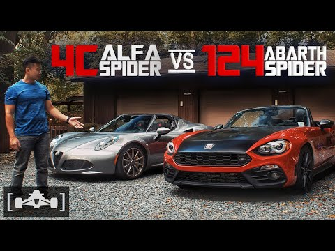 Abarth 124 Spider vs. Alfa Romeo 4C Spider Comparison Review | An Italian Sibling Rivalry