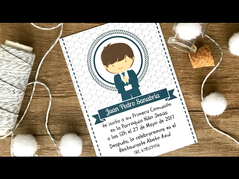 Comunión Diseño Gratis De Invitación Para Niño