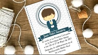 Tarjetas primera comunion para niña editar e imprimir gratis