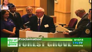 Forest Grove City Council Purple Heart City