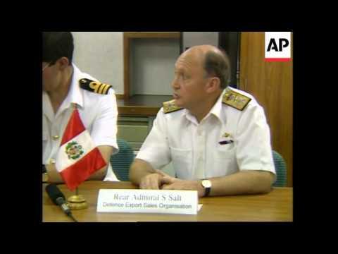 PERU: BRITISH WARSHIP HMS NORFOLK VISITS PORT OF CALLAO