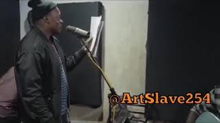Khaligraph Jones V/s DJ Shiti in Studio by ArtSlave254